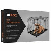 RAC Metal Fold Flat Crate With Plastic Tray | Dogs