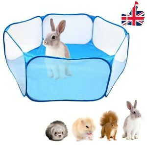 Pet Playpen Puppy Kitten Rabbits Hamster Cage Fence Baby Kids Playing Tent - UK