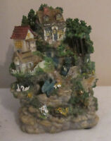 """Classic Treasures Musical Water Fountain 7 1/2"""" Plays """"Climb Every Mountain"""""""