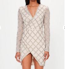 Missguided peace + silver lattice embellished wrap  £180 UK 14/EU 42/US 10 (A30)