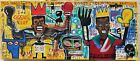 Amazing painting J. M. Basquiat. Oil on canvas. Signed.