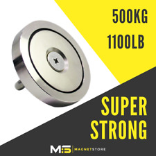 500kg/ 1100lb 120mm Super Strong Neodymium Recovery Fishing Magnet Pull Eyebolt