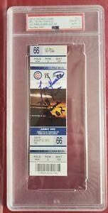 Lou Pinella Signed Last Managed Game Ticket PSA 10 Mint  8/22/10 Cubs vs Braves
