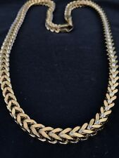 "Men's 8mm Franco Chain 14k Gold Over Stainless Steel 30"" Long 185 Grams HEAVY"