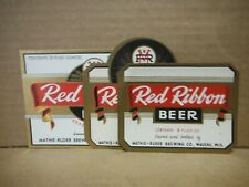 New listing Red Ribbon (3) Beer Labels-Mathie-Ruder Brg.,Wausau,Wisconsin