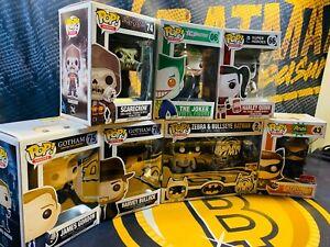 Funko Pop! DC Heroes Lot Joker Harley Quinn Zebra & Bullseye Batman Catwoman 43