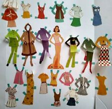 Pretty Young Teen Girl Freckles Vintage 1970s Paper Doll with Clothes