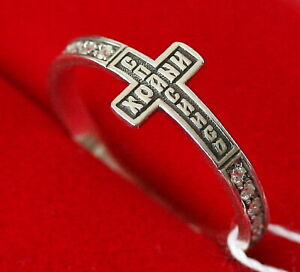 Christian Prayer Ring Save And Protect SIlver 925 Russian Orthodox Jewelry NEW