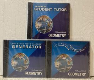 McDougal Littell Geometry (CD-ROM) Brand New Sealed - Test Prep, Tudor, Teacher