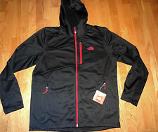 NWT The North Face Men's Stretch Hooded Cinder Fleece Jacket S SMALL BLACK & RED
