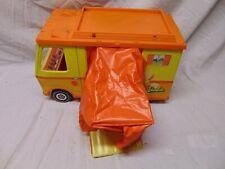 """1970 Mattel Barbie Camper orange / yellow color w pop out tent 19"""" x 8"""" x 12"""" 00004000  Us"""