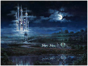 Disney Fine Art Limited Edition Canvas Moonlit Castle-Cinderella-Rodel Gonzalez