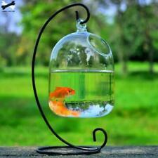 Clear 15cm Height Hanging Glass Aquarium Fish Bowl Fish Tank Flower Plant Vase