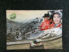 CP POSTCARD CARTOLINA CITROEN DS3 R3 VEIBY RALLY MONTE CARLO WRC RALLYE 2016