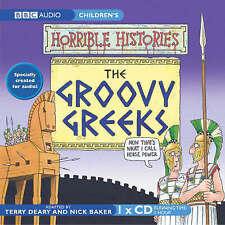 HORRIBLE HISTORIES -THE GROOVY GREEKS - BBC  AUDIO BOOK NEW/UNSEALED