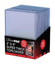 50 Ultra Pro 75pt 3x4 Toploaders Toploader Super Thick top loaders Jersey Cards
