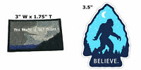 X-Files and Bigfoot 2 Pcs Embroidered Patch Iron / Sew-on Souvenir Travel