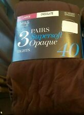 Neues AngebotM&s 3 Pack 40 Denier superweicher Opaque tights Size L Large 3 Paar