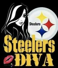 (2) Pittsburgh Steelers Lady Diva Vinyl Stickers 4x3.5 Car Window NFL Decals