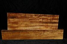 Hawaiian Curly Koa 2 pc. Guitar Sized billets # V-1