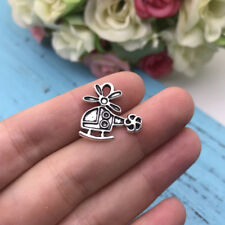 10pcs Helicopter Charm Tibet silver Charms Pendants DIY Jewellery Making crafts