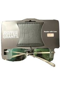 Foster Grants reading glasses With Case New + 1.50 RRP29. 99
