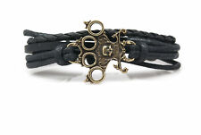 Knuckle Duster with Skull Fashion Style Jewelry Leather Charm Bracelet DIM150