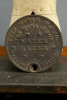 Antique Ford Meter Box Cover - Wabash, Indiana Water Cover Sign Stars Vintage