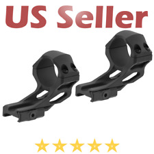 UTG Leapers ACCU-SYNC 30mm High Profile 37mm Offset Picatinny Scope Rings Black