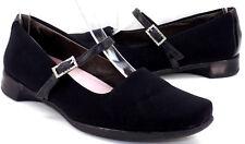 NAOT Rhinestone Buckle Black Wedge Mary Janes Women's 38 US Shoe Size 7 / 7.5