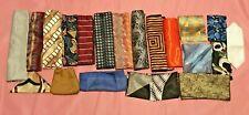 Lot of 21 Polyester POCKET SQUARES Handkerchiefs Hankies