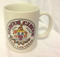 CIRCUS CIRCUS HOTEL CASINO RENO LAS VEGAS CLOWN FACE COFFEE MUG CUP CERAMIC EC