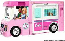 More details for barbie 3-in-1 dream camper van toy kids girls pink playset vehicle & accessories