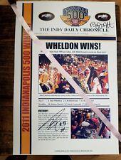 DAN WHELDON and BRYAN HERTA  SIGNED 2011 COMMEMORATIVE INDY 500  POSTER.