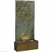 Relaxation Water Fountain Indoor Outdoor Floor Wall Mount Slate Garden Patio New