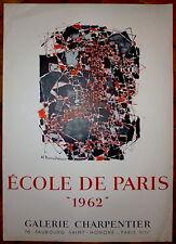 Dumitresco Affiche lithographie Mourlot 1962 Ecole de Paris Art Abstrait