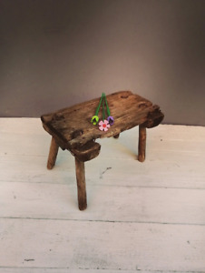 Antique wooden small stool Rusticyy