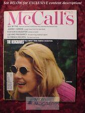 McCALL'S September 1967 Sept Sep 67 VANESSA LYNN MICHAEL REDGRAVE WILLIAM SANSOM