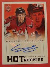 2013 14 Score Hot Rookies Cameron Schilling Autograph Washington Capitals