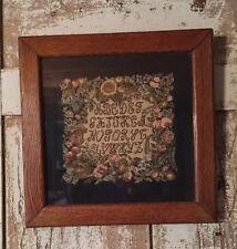 Vintage Sampler Tapestry Fruit Floral Alphabet Design Needlepoint