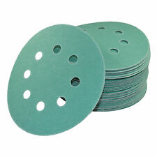 "50x 5"" 8-Hole 150-Grit Dustless Hook and Loop Sanding Discs for Porter-Cable 382"