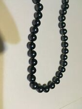 Fashion Jewelry- Necklace - Black  Faux Pearls