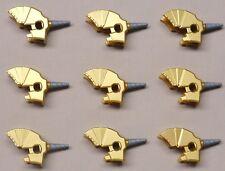 x9 NEW Lego Horse Battle Helmet Unicorn For Castle Minifigs METALLIC GOLD