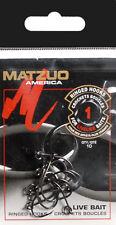 50 Matzuo R127011 Ringed Octopus Live Bait Fish Fishing Hooks size #1 - 50 Hooks