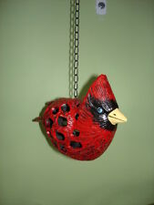 photophore statue d oiseau en fonte pat couleurs , a suspendre , bougie .
