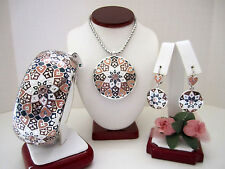 "Brighton ""ZAHRA LOVE"" Necklace-Earring-Bracelet Set (MSR$294) NWT/Pouch"