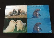 Japan NTT Phone Cards Job Lot Of 4 - Dolphins- Dogs