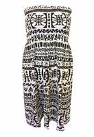 Womens Sheering Boob Tube Gather Bandeau Top Summer Mini Dress  Strapless Top