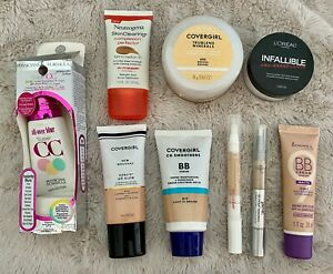 Lot of 9 NEW CoverGirl L'Oreal BB Cream Face Powder Concealer Light/Medium AS IS