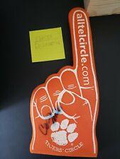 Chris Fowler ESPN College Gameday Foam Finger Autograph Clemson Tigers Excellent